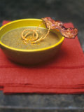 Lentil Soup with Bacon, Fried Onions and Walnut Oil Photographic Print by Akiko Ida