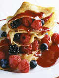 Pancakes with Summer Berries Photographic Print