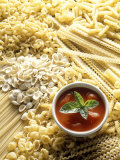 Pasta Still Life with Tomato Sauce Photographic Print