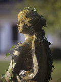 A Stone Statue in a Castle Garden Photographic Print by Hans-peter Siffert