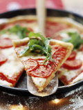 Pizza with Tomatoes and Rocket Photographic Print