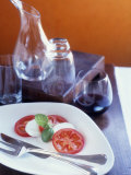 Insalata Caprese (Tomato with Mozzarella and Basil) Photographic Print by Alexandra Grablewski