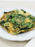 Spinach and Potato Tortilla (Made with Precooked Potatoes) Photographic Print