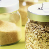 Cereals in Storage Jars Photographic Print by Barbara Bonisolli
