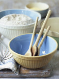 Baking Bowls, Jug, Wooden Spoons, Whisk Photographic Print by Michael Paul