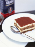 A Piece of Tiramisu on a Plate Photographic Print by Peter Medilek