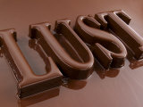 The Word Lust, Chocolate-coated Photographic Print by Kai Stiepel