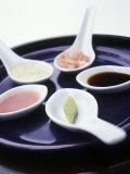 Japanese Dips on Spoons Fotodruck von Alexander Van Berge