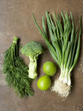 Fresh Vegetables, Dill and Limes Photographic Print