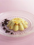 White Chocolate Pudding with Saffron & Cardamom Photographic Print by Chris Alack