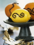 Oranges & Lemon Studded with Cloves on a Pedestal Stand Photographic Print by Alena Hrbkova