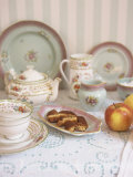 China Tableware, Biscotti and Apples Photographic Print by Sara Danielsson