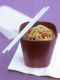 Soba Noodles with Chili and Peppers Photographic Print
