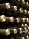 White Wine Bottles Maturing in a Cellar Photographic Print by Steven Morris