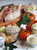 Ingredients for Cassoulet de Toulouse Photographic Print by Debi Treloar