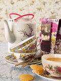 Ginger Tea with Teacups and Teapot Fotografie-Druck von Jan-peter Westermann
