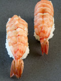 Two Nigiri-Sushi with Shrimp Photographic Print by Valerie Martin