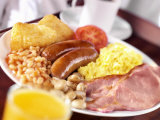 English Breakfast: Bacon, Scrambled Egg, Sausages, Beans Etc. Photographic Print