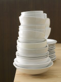 Piles of Crockery Photographic Print by Kai Schwabe