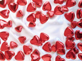 Red Chocolate Hearts for Valentine's Day Photographic Print by Brigitte Krauth