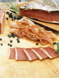 South Tyrolean Speck (Bacon) with Juniper Berries & Herbs Photographic Print by Stefan Braun