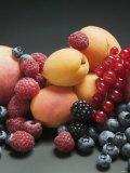 Fruit Still Life with Stone-Fruit and Berries Lámina fotográfica