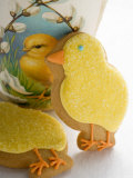 Two Easter Biscuits (Yellow Chicks) Photographic Print