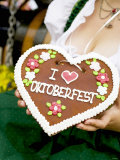 Woman with Lebkuchen Heart (Oktoberfest, Munich) Photographic Print