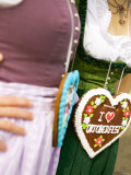 Two Women with Lebkuchen Hearts (Oktoberfest, Munich) Photographic Print