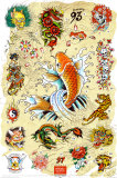 Ed Hardy -Japanese Tattoo Chart Prints by Ed Hardy