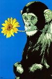 Monkey With Flower Posters por Steez