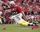 Santonio Holmes Ohio State University 2004 Action Photo