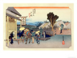 The 53 Stations of the Tokaido, Station 5: Totsuka-juku, Kanagawa Prefecture Giclee Print by Ando Hiroshige