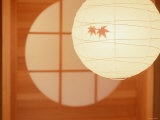 Paper Lampshade in Japanese Room Photographic Print