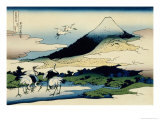 36 Views of Mount Fuji, no. 14: Umegawa in Sagami Province Gicléedruk van Katsushika Hokusai