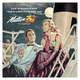Couple in Moonlight, Matson to Hawaii Giclee Print