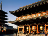 Pagoda and Gate of Sensoji Temple, Asakusa, Tokyo, Japan Photographic Print