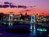 Evening View of Rainbow Bridge Photographic Print