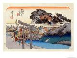 The 53 Stations of the Tokaido, Station 6: Fujisawa-shuku, Kanagawa Prefecture Giclee Print by Ando Hiroshige