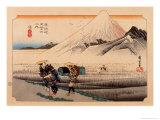 The 53 Stations of the Tokaido, Station 13: Hara-juku, Shizuoka Prefecture Giclee Print by Ando Hiroshige