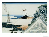36 Views of Mount Fuji, no. 11: Asakusa Honganji Temple in the Eastern Capital Giclee Print by Katsushika Hokusai