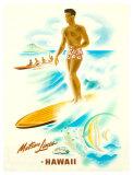 Matson Lines in Hawaii, Surfer Reproduction procédé giclée par Frank Mcintosh