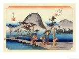 The 53 Stations of the Tokaido, Station 7: Hiratsuka-juku, Kanagawa Prefecture Giclee Print by Ando Hiroshige