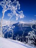 Lake Mashu in Winter Reprodukcja zdjęcia