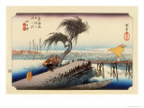 The 53 Stations of the Tokaido, Station 43: Yokkaichi-juku, Mie Prefecture Giclee Print by Ando Hiroshige