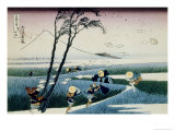 36 Views of Mount Fuji, no. 18: Ejiri in the Suruga Province Giclee Print by Katsushika Hokusai