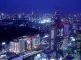 Night View of Shinjuku Photographic Print