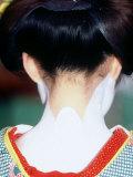 Back Shot of Maiko, Close-Up, Kyoto, Japan Photographic Print