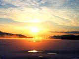 Sunrise at Lake Kussharo Photographic Print