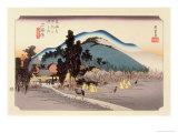 The 53 Stations of the Tokaido, Station 44: Ishiyakushi-juku, Mie Prefecture Giclee Print by Ando Hiroshige